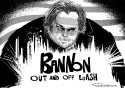Bannon Off Leash by Frank Hansen, PoliticalCartoons.com