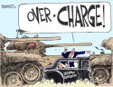 Over Charge by Bill Schorr, Cagle Cartoons