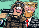 Trump distraction by Milt Priggee, www.miltpriggee.com