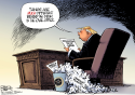 Trump on Afghanistan by Nate Beeler, The Columbus Dispatch