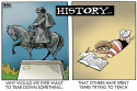 STATUES AND HISTORY, COLOR by Randy Bish, PoliticalCartoons.com