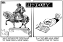 STATUES AND HISTORY, B/W by Randy Bish, PoliticalCartoons.com
