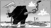 NoKo Missile Over Japan by Bob Englehart, CagleCartoons.com