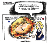 Hurricane Trump color by Jimmy Margulies, Politicalcartoons.com