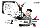 trump and North Korea color by Jimmy Margulies, Politicalcartoons.com