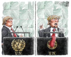 UN Speech  by Adam Zyglis