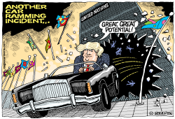 Trump Ramming the UN by Wolverton
