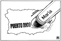 PUERTO RICO ERASED, B/W by Randy Bish