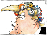 Trump's hair styling by Michael Kountouris, Greece