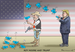 Roy Moore and Trump by Marian Kamensky