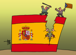 Spain divided or united by Arend Van Dam