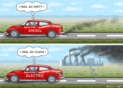 Clean Electric Car by Marian Kamensky