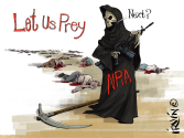 Let Us Prey by Trevor Irvin,  PoliticalCartoons.com