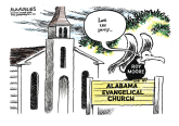 Roy Moore and evangelicals color by Jimmy Margulies, Politicalcartoons.com