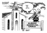 Roy Moore and evangelicals by Jimmy Margulies, Politicalcartoons.com