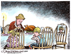 Thanksgiving military family by Dave Granlund