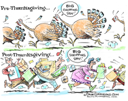 Thanksgiving Chopping and Shopping  by Dave Granlund