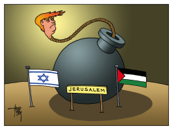 Trump and Jerusalem by Arend Van Dam