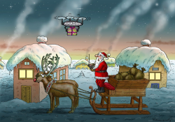 Santa Amazon by Marian Kamensky