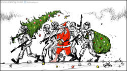 Santa in Palestine by Emad Hajjaj