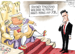 Romney Trump by Pat Bagley