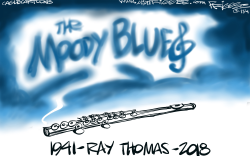 Ray Thomas -RIP by Milt Priggee