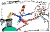 Govt Shutdown by Randall Enos, Cagle Cartoons