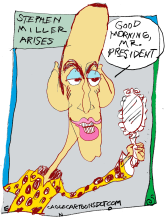 Stephen Miller by Randall Enos, Cagle Cartoons