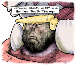Rotten Tooth Trump by Tim Eagan