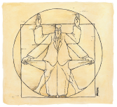 Modern Vitruvian Man by Michael Kountouris, Greece