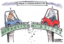 Crumbling Infrastructure by Jeff Koterba