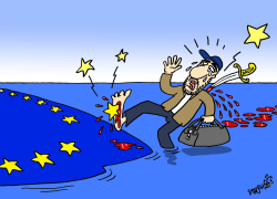 Syrian immigrant in European Union by Stephane Peray