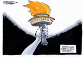 The Torch of Truth by Jeff Koterba, Omaha World Herald, NE