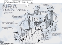 NRA School by Pat Bagley