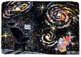 Into the Cosmos by Jeff Koterba, Omaha World Herald, NE