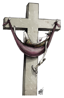 Crucifixion Season by Angel Boligan