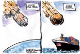 Collision Course by Jeff Koterba, Omaha World Herald, NE
