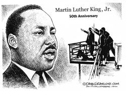 MLK assassination 50th by Dave Granlund