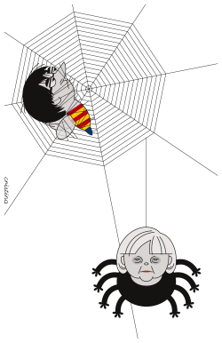 Trapped - Puigdemont by Cristina Sampaio