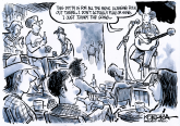 Open Mic Night by Jeff Koterba, Omaha World Herald, NE