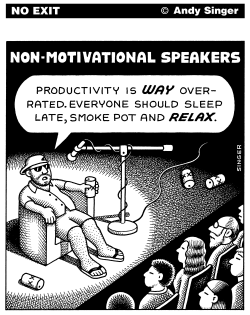Non Motivational Speakers by Andy Singer