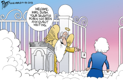 Welcome Mrs. Bush by Bruce Plante
