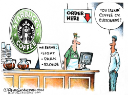 Starbucks and color by Dave Granlund