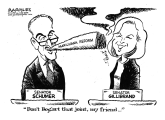 Schumer and Gillibrand marijuana plans by Jimmy Margulies, Politicalcartoons.com