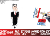Mitt Romney by Pat Bagley, The Salt Lake Tribune, UT