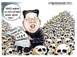 Trump says Kim very honorable by Dave Granlund