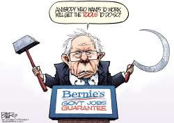 Bernie's Jobs Plan by Nate Beeler