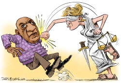 Bill Cosby and Justice by Daryl Cagle