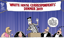 White House correspondents- ' dinner 2019 by Bruce Plante
