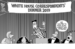 White House Correspondents- ' Dinner by Bruce Plante